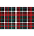 red green check plaid seamless background vector image vector image