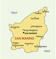 republic san marino - map vector image vector image
