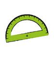 ruler protractor icon vector image vector image