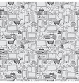 Seamless pattern hand drawn sketch icons for vector image vector image