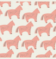 seamless pattern with the image of sweet horse vector image