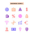 set icons business vector image