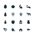 set of agriculture farm icons vector image vector image