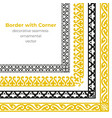 set of decorative seamless ornamental border vector image vector image