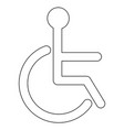 sign of the disabled the black color icon vector image