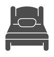 single bed solid icon sleep vector image