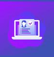 staff performance trendy icon vector image