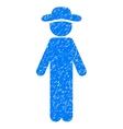 Standing Gentleman Grainy Texture Icon vector image vector image