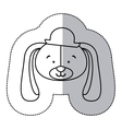 sticker monochrome contour and half shadow with vector image vector image