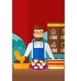 Successful small business owner vector image vector image