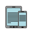 tablet and smartphone design vector image