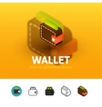 Wallet icon in different style vector image vector image