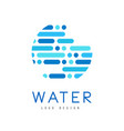 water logo design brand identity template in blue vector image vector image