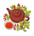 wild rose tea on white background vector image