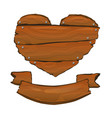 wooden sign vector image vector image