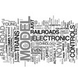 your guide to controls electronic model railroad vector image vector image