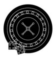 casino poker roulette dices gambling icon vector image