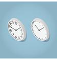 Isometric Wall Clocks vector image