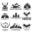 set of forest theme emblems Vintage badges vector image