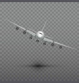 flying airplane jet aircraft airliner front vector image