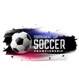 abstract soccer football watercolor banner vector image vector image
