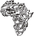 abstract symbol africa in clouded leopard vector image vector image