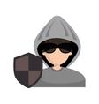 avatar hacker criminal vector image vector image
