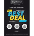 Banner Best Deal Buy Get Free vector image