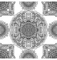 black and white seamless pattern mandala asian vector image vector image