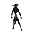 black outline drawing of the egyptian god of water vector image vector image