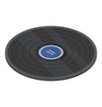 blue vinyl disk icon isometric style vector image vector image