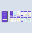 booking ui smartphone interface vector image