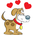 Cartoon Puppy Love vector image vector image