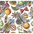 christmas holiday hand drawing seamless pattern vector image vector image