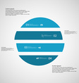 Circle horizontaly divided to four blue parts on vector image vector image