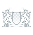 coat of arms unicorn vector image vector image