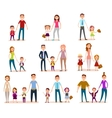 Collection of Parents with Their School Children vector image vector image