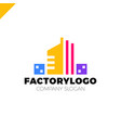 construction firm factory or manifacture logo vector image vector image