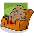 couch potato saying cartoon vector image vector image