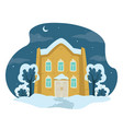 countryside architecture house in winter covered vector image