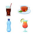 design of drink and bar logo collection vector image vector image
