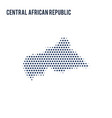 dotted map of central african republic isolated on vector image vector image