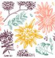 exotic plants garden seamless pattern vector image vector image
