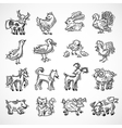 Farm Animals Sketch vector image vector image