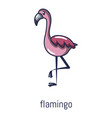 flamingo icon cartoon style vector image