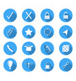 flat design icons vector image