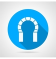 Flat round icon for brick horseshoe arch vector image vector image