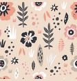 floral pastel seamless pattern vector image