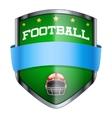 Football Shield badge vector image vector image