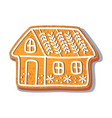 gingerbread house cookie vector image vector image
